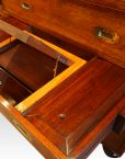 Victorian teak secretaire military chest interior