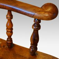 Victorian yew wood captains chair hand grip
