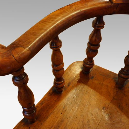 Victorian yew wood captains chair spindle