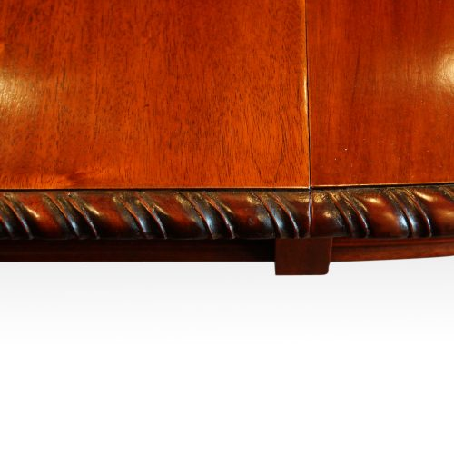 Maple & co mahogany extending dining table edge carving