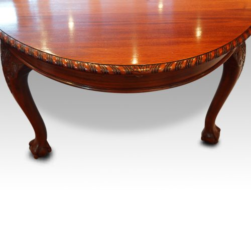 Maple & co mahogany extending dining table end