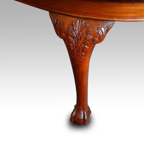 Maple & co mahogany extending dining table leg