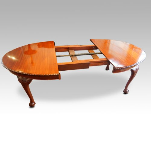 Maple & co mahogany extending dining table open