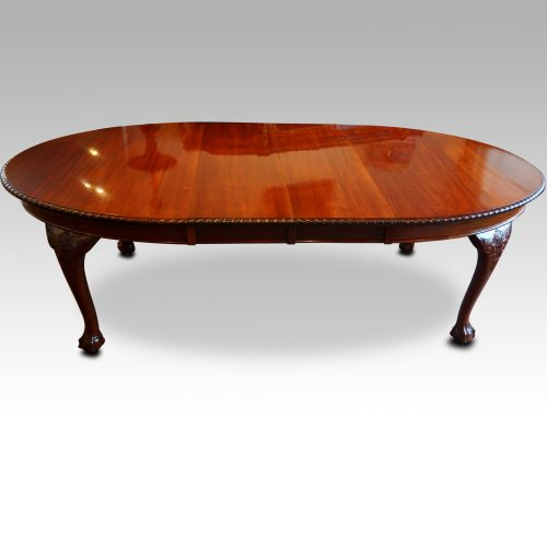 Maple & co mahogany extending dining table side