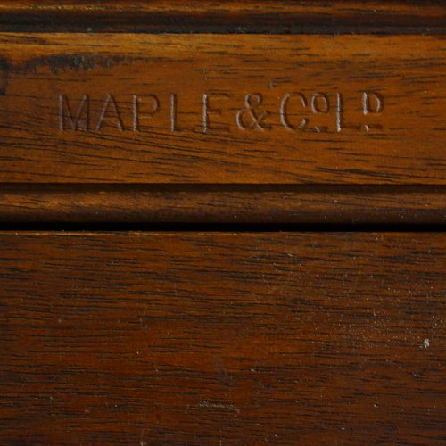 Maple & co mahogany extending dining table stamp