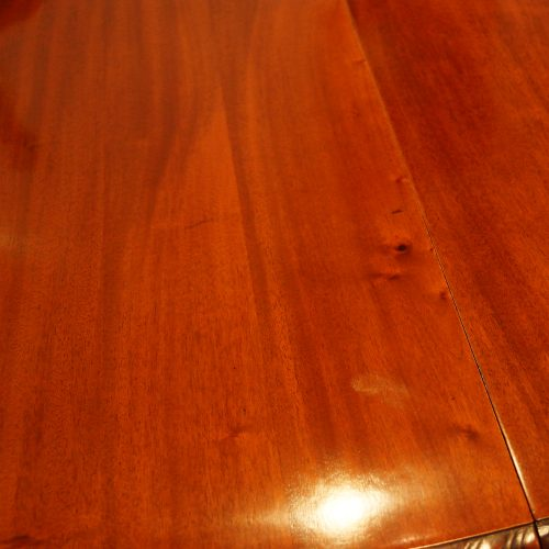 Maple & co mahogany extending dining table timber