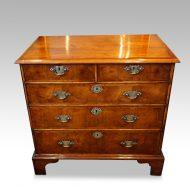 Queen Anne walnut chest with inlay