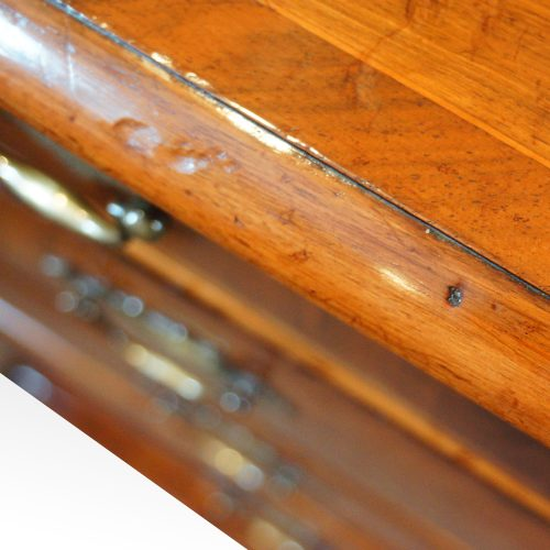 Queen Anne walnut chest with inlay edge
