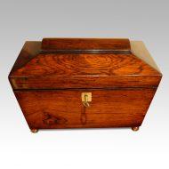 Regency rosewood caddy box