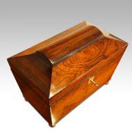 Regency rosewood caddy box top