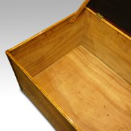 Victorian camphor trunk with leather corners interior