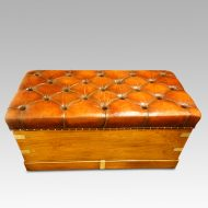 Victorian camphorwood ottoman rear