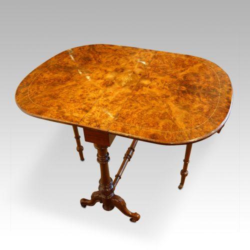 Victorian inlaid walnut Sutherland table