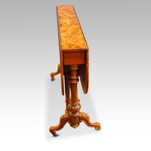 Victorian inlaid walnut Sutherland table end