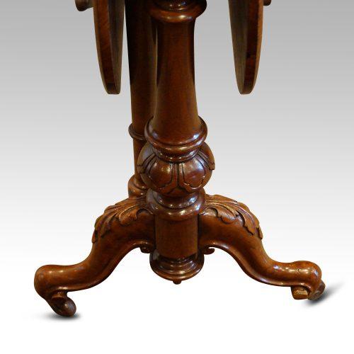 Victorian inlaid walnut Sutherland table feet