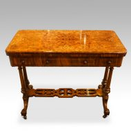 Victorian inlaid walnut card table