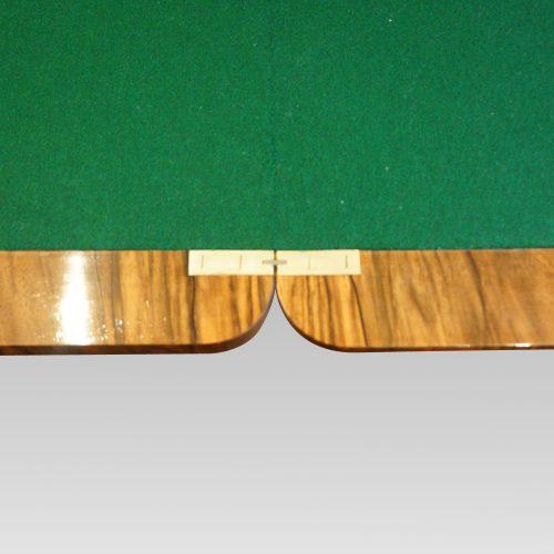 Victorian inlaid walnut card table hinge