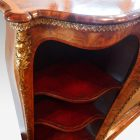 Victorian walnut open end credenza end section