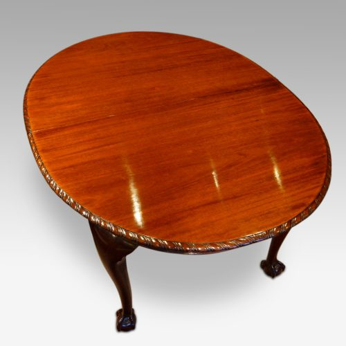 Waring and Gillow mahogany extending dining table closed
