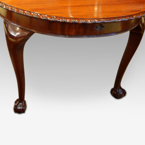 Waring and Gillow mahogany extending dining table hande location