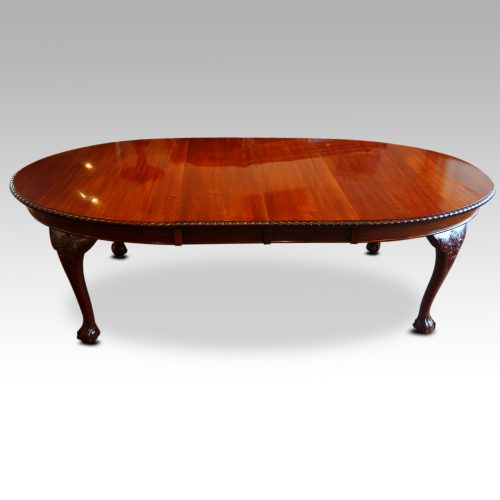 Waring and Gillow mahogany extending dining table side