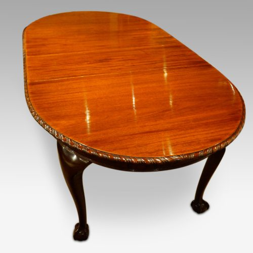 Waring and Gillow mahogany extending dining table top upper