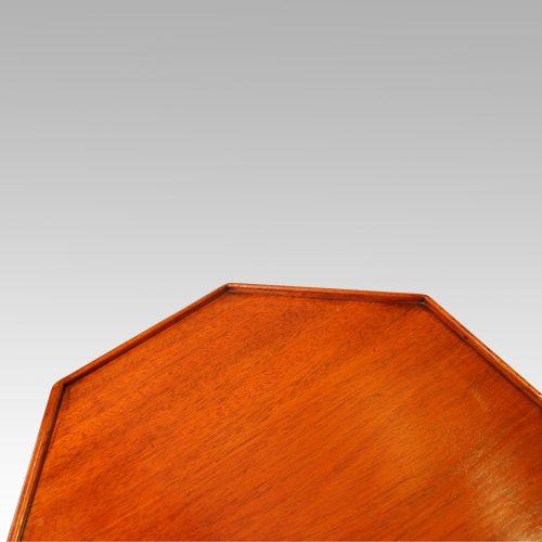 Antique mahogany wine table edge