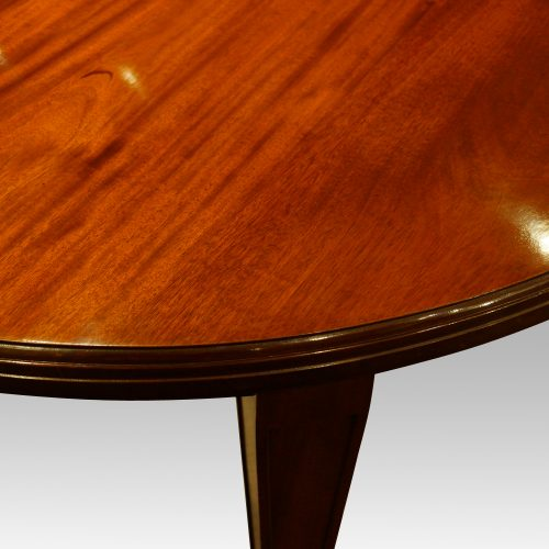 Edwardian circular mahogany dining table leg panel