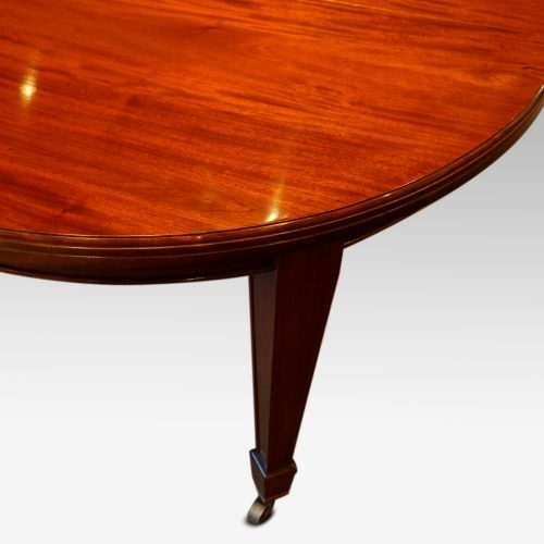 Edwardian circular mahogany dining table top moulding