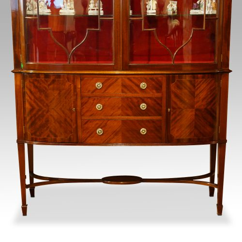 Edwardian inlaid mahogany display cabinet base