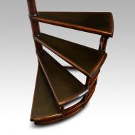 Mahogany spiral library steps top
