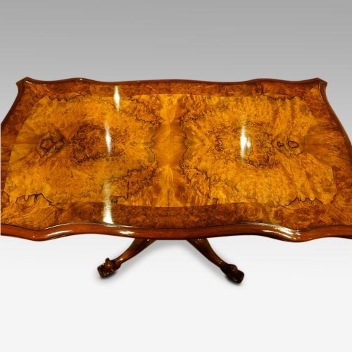 Pair of Victorian walnut cardtables top