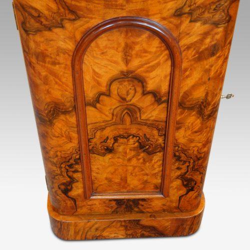 Victorian burr walnut cabinet door panel