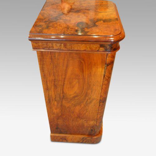 Victorian burr walnut cabinet side