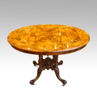 Victorian inlaid walnut oval table