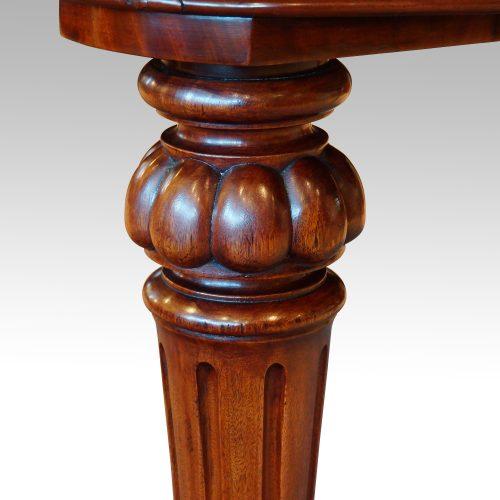 Victorian mahogany 10+ seat dining table leg detail