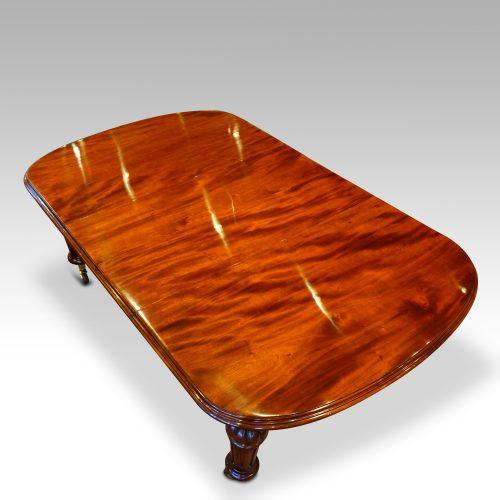 Victorian mahogany 10+ seat dining table upper