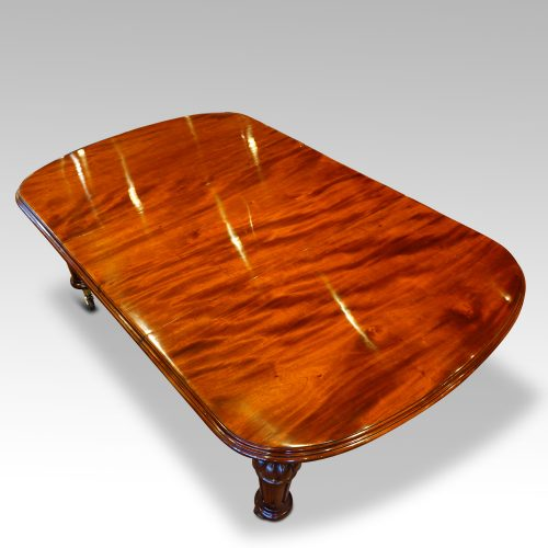 Victorian mahogany 10+ seat dining table view above