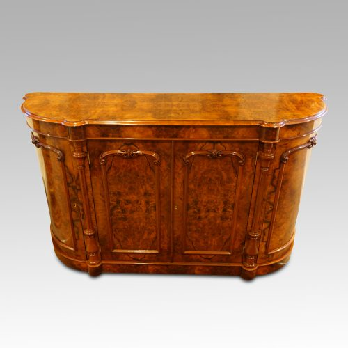 Victorian walnut credenza cabinet