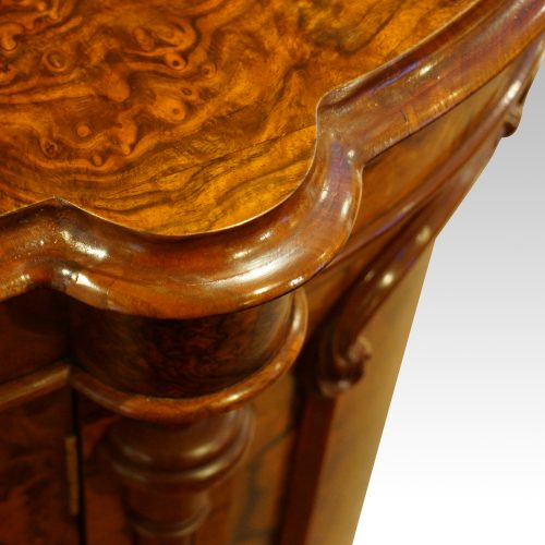 Victorian walnut credenza cabinet capital