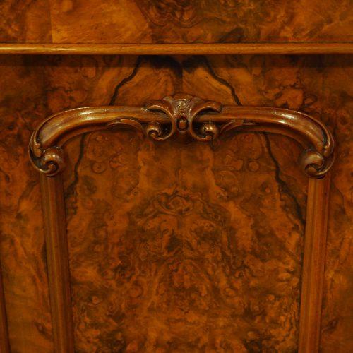 Victorian walnut credenza cabinet carving