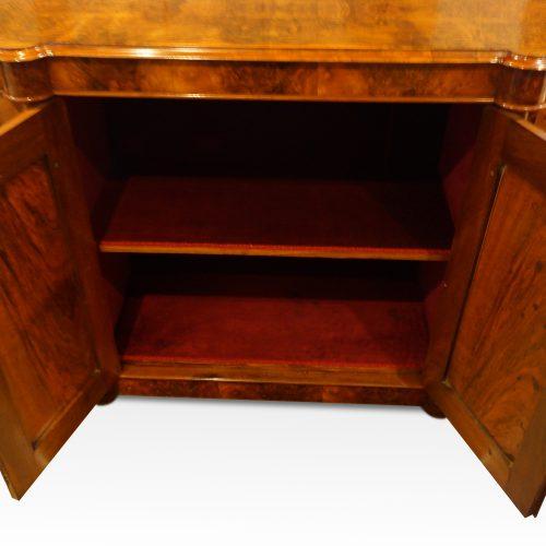 Victorian walnut credenza cabinet centre cupboard
