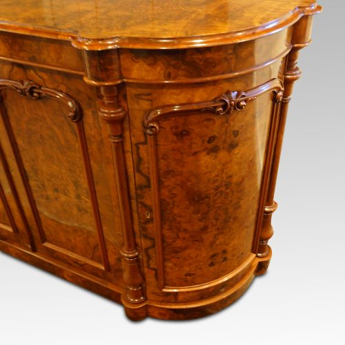 Victorian walnut credenza cabinet door