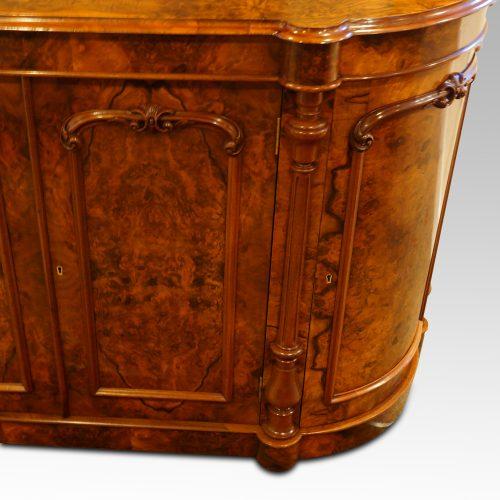 Victorian walnut credenza cabinet end door