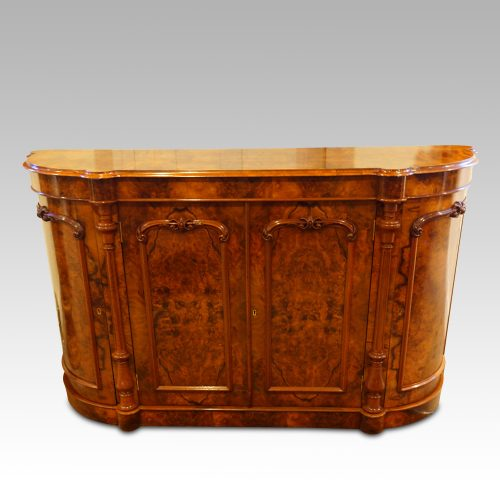 Victorian walnut credenza cabinet front