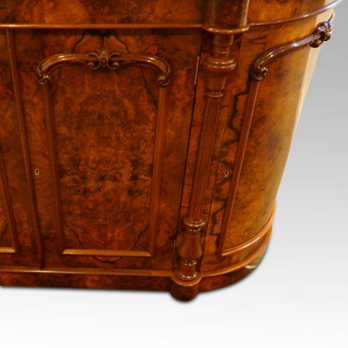 Victorian walnut credenza cabinet pillar