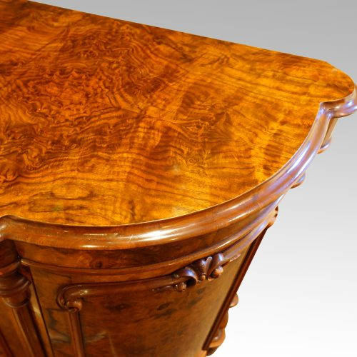 Victorian walnut credenza cabinet top moulding
