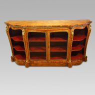 Victorian walnut open end credenza 1