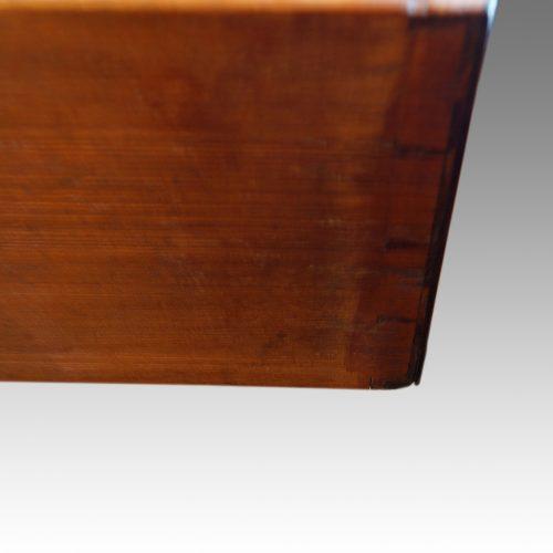 Georgian mahogany bow chest dovetails