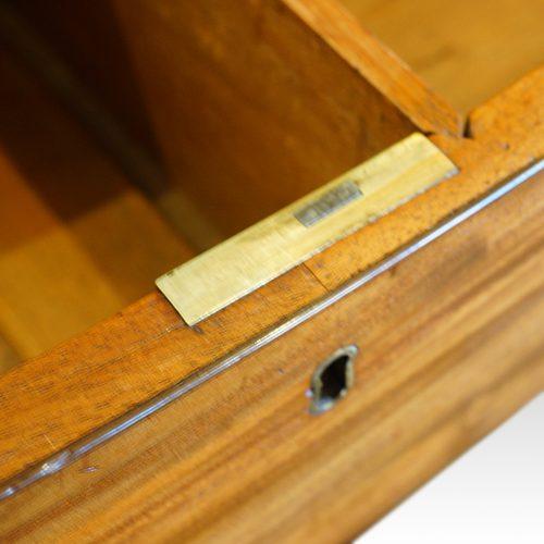 Georgian mahogany bow chest lock